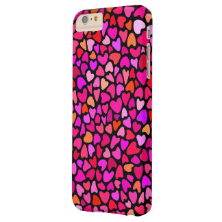 Seamles Colorful Hearts Pattern Love Barely There iPhone 6 Plus Case