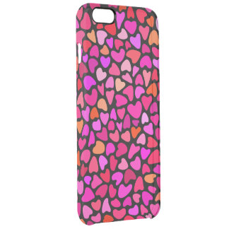 Seamles Colorful Hearts Pattern Love Clear iPhone 6 Plus Case