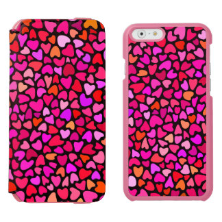 Seamles Colorful Hearts Pattern Love iPhone 6/6s Wallet Case