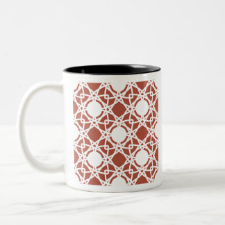 Seamless Abstract Modern Pattern Two-Tone Coffee Mug