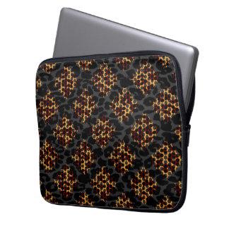 Seamless animal print fur of leopard laptop sleeve