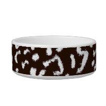Seamless animal skin texture bowl