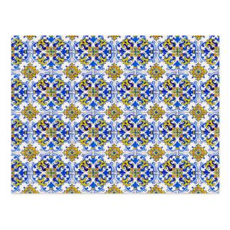 Seamless Azulejo Art Postcard