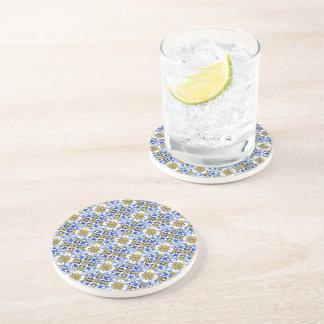 Seamless Azulejo Art Tile Drink Coaster
