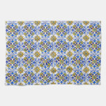 Seamless Azulejo Art Tile Hand Towel at Zazzle