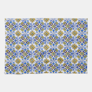 Seamless Azulejo Art Tile Hand Towel