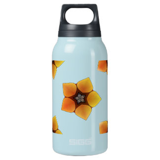 Seamless background with flowers insulated water bottle