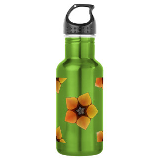 Seamless background with flowers water bottle