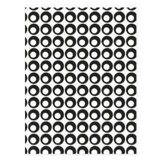 Seamless Black and White Abstract Modern Circles Postcard