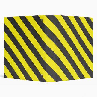seamless black and yellow diagonals 3 ring binder