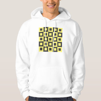 seamless black and yellow squares in squares pullover