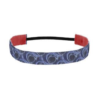 Seamless Blue Fractal Athletic Headband