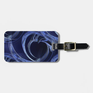 Seamless Blue Fractal Bag Tag