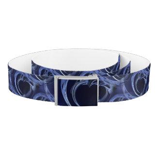 Seamless Blue Fractal Belt