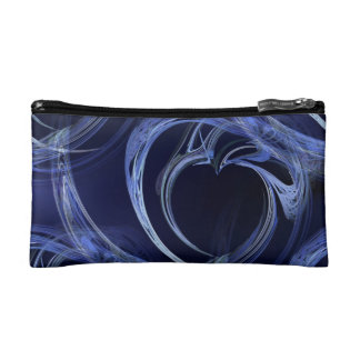 Seamless Blue Fractal Cosmetic Bag