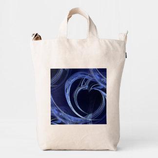 Seamless Blue Fractal Duck Bag