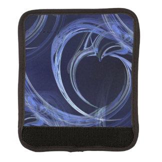 Seamless Blue Fractal Luggage Handle Wrap