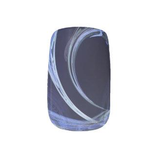 Seamless Blue Fractal Minx Nail Art