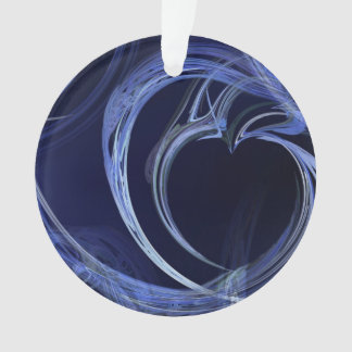 Seamless Blue Fractal Ornament