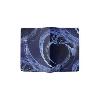 Seamless Blue Fractal Passport Holder