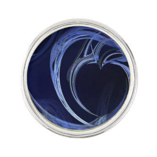 Seamless Blue Fractal Pin