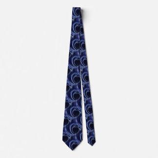 Seamless Blue Fractal Tie
