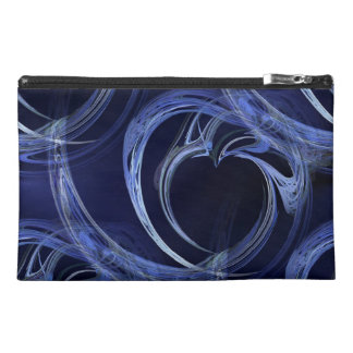 Seamless Blue Fractal Travel Accessory Bag