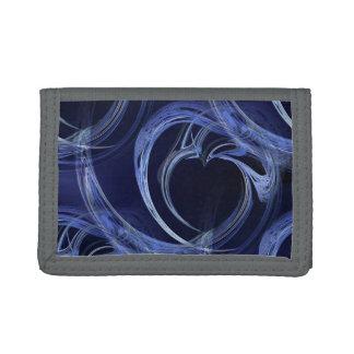 Seamless Blue Fractal Trifold Wallet