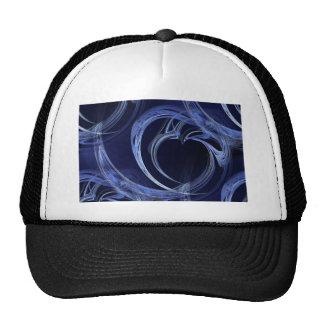 Seamless Blue Fractal Trucker Hat