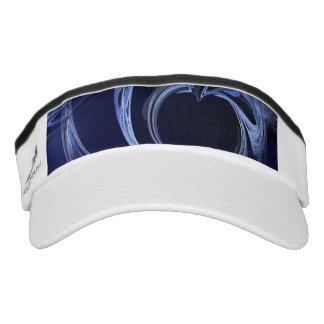 Seamless Blue Fractal Visor