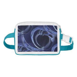Seamless Blue Fractal Waist Bag