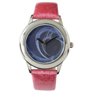 Seamless Blue Fractal Wrist Watch