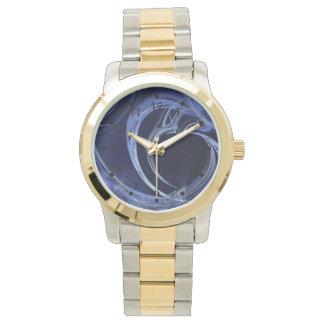 Seamless Blue Fractal Wristwatch
