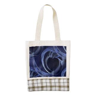 Seamless Blue Fractal Zazzle HEART Tote Bag