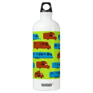 Seamless Caravan Pattern Aluminum Water Bottle