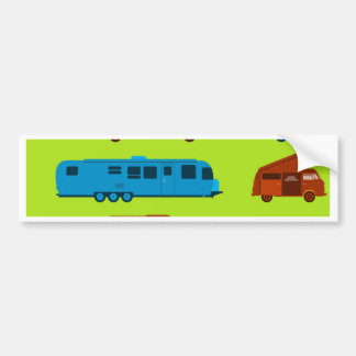 Seamless Caravan Pattern Bumper Sticker