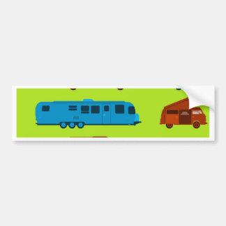 Seamless Caravan Pattern Bumper Sticker