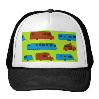 Seamless Caravan Pattern Trucker Hat