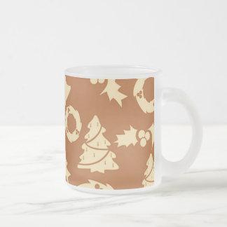 Seamless Christmas Pattern golden Mugs