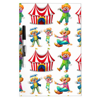 Seamless clowns and circus tent Dry-Erase board