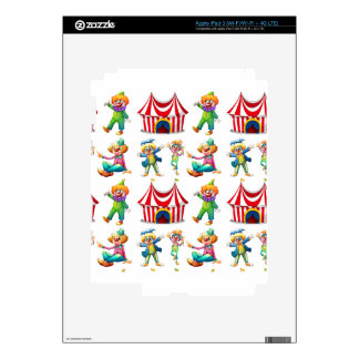 Seamless clowns and circus tent iPad 3 skins