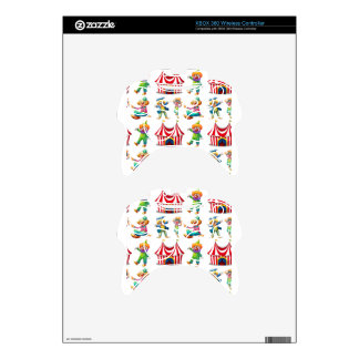 Seamless clowns and circus tent xbox 360 controller skin