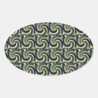 Seamless Colored Swirl Pattern Oval Sticker