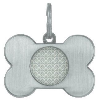Seamless Colorful Abstract  Concentric Circles Pet ID Tag