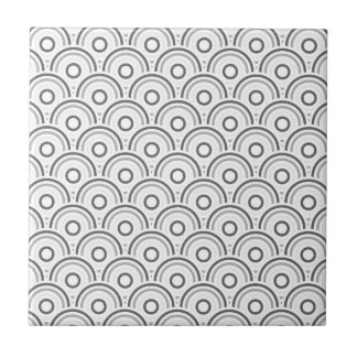 Seamless colorful abstract  concentric circles tile