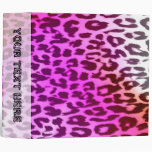 Seamless colorful animal skin texture of leopard binder