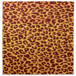 Seamless colorful animal skin texture of leopard printed napkin