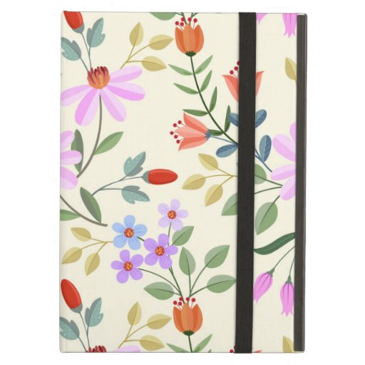 Seamless Colorful Flowers Case For iPad Air
