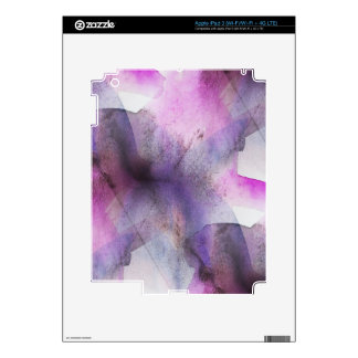 seamless cubism purple abstract art decal for iPad 3