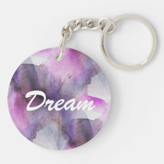 seamless cubism purple abstract art keychain